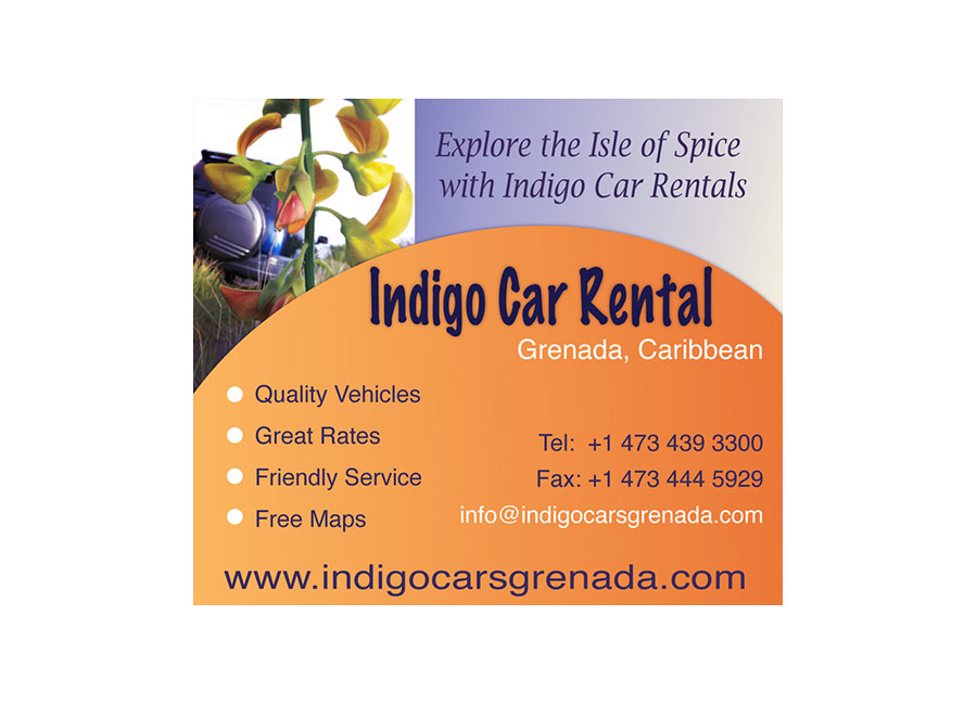 Indigo Cars Rental Grenada Advert